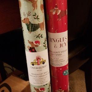 Cynthia Rowley Dachshund Christmas Wrapping Paper